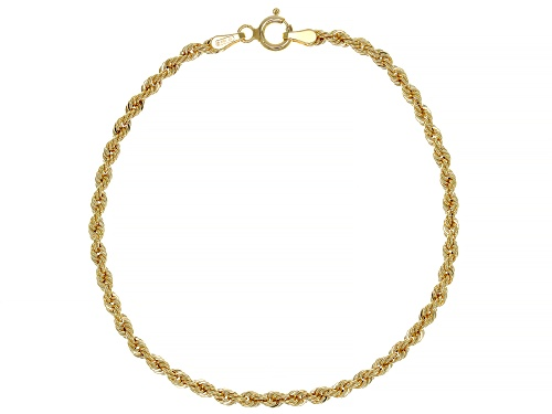 Photo of 10K Yellow Gold 2.6MM Rope Link Bracelet - Size 7.25