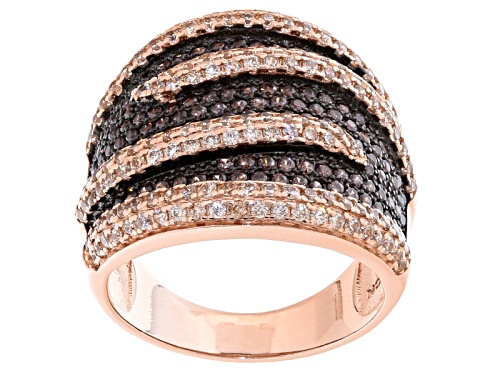 Photo of Bella Luce ® 2.66ctw Champagne And Mocha Diamond Simulants Eterno ™ Rose Ring (1.48ctw Dew) - Size 7