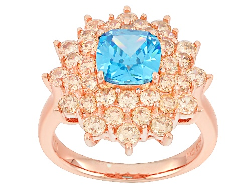 Photo of Bella Luce ®Esotica™5.03ctw Neon Apatite And Champagne Diamond Simulants Eterno ™ Rose Ring - Size 8