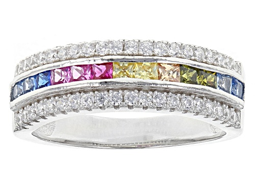 Photo of Bella Luce ® 1.74ctw Multicolor Gemstone Simulants Rhodium Over Sterling Silver Ring - Size 8