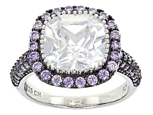 Photo of Bella Luce ® 7.54ctw Lavender And White Diamond Simulants Rhodium Over Sterling Silver Ring - Size 11