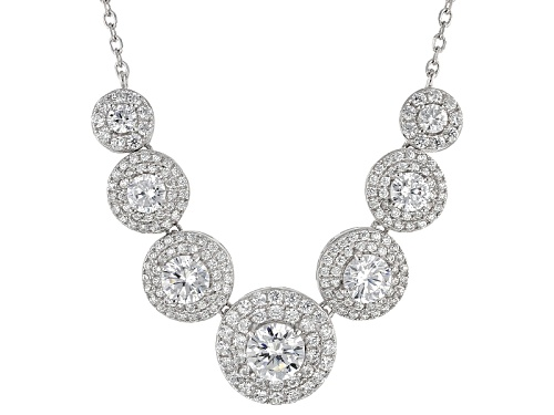 Photo of Bella Luce ® 6.43ctw Rhodium Over Sterling Silver Necklace (3.96ctw Dew) - Size 18