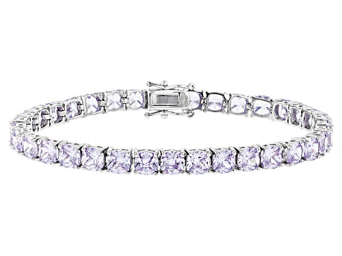Photo of Bella Luce ®25.90ctw Lavender Diamond Simulant Rhodium Over Sterling Silver Bracelet(16.10ctw Dew) - Size 7.5