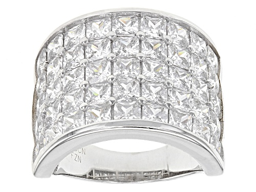 Photo of Bella Luce ® 12.83ctw Rhodium Over Sterling Silver Ring (8.10ctw Dew) - Size 6