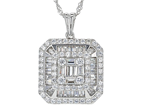 Photo of Bella Luce ® 4.04ctw Rhodium Over Sterling Silver Pendant With Chain (2.50ctw Dew)