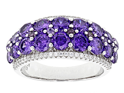 Photo of Bella Luce ® 6.09ctw Purple And White Diamond Simulants Rhodium Over Sterling Silver Ring - Size 5