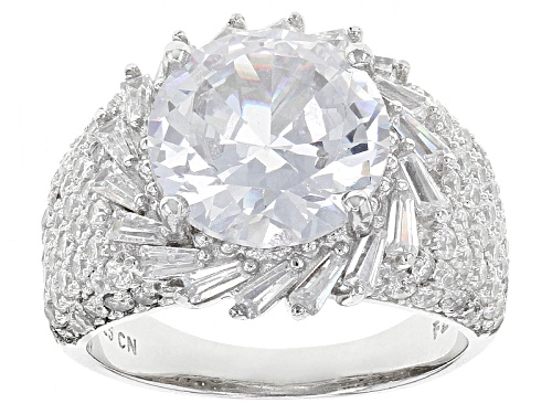 Photo of Bella Luce ® 11.28ctw Rhodium Over Sterling Silver Ring (6.18ctw Dew) - Size 5