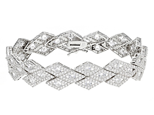 Photo of Bella Luce ® 17.97ctw Rhodium Over Sterling Silver Bracelet (11.42ctw Dew) - Size 7.5