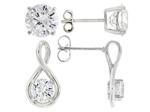 Photo of Bella Luce ® 13.85ctw Rhodium Over Sterling Silver Earrings-Set Of 2 (8.16ctw Dew)