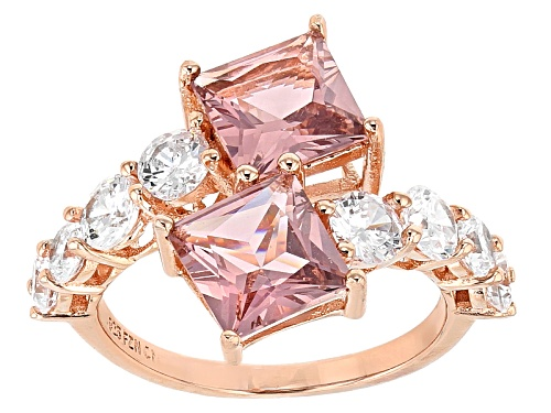 Photo of Bella Luce® Esotica ™ 9.07ctw Morganite And White Diamond Simulants Eterno ™ Rose Ring - Size 11