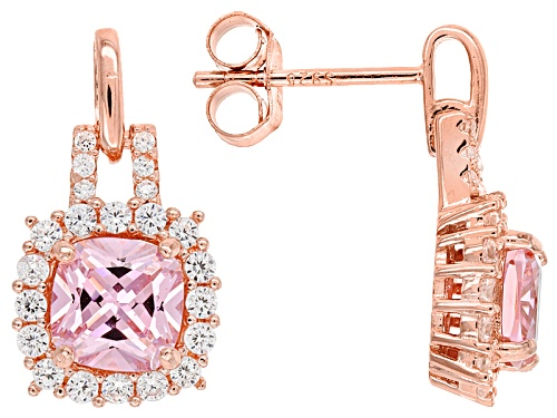 Photo of Bella Luce ® 3.51ctw Pink And White Diamond Simulants Eterno ™ Rose Earrings (2.22ctw Dew)