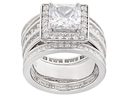 Photo of Bella Luce ® 9.05ctw Rhodium Over Sterling Silver Ring With Bands (5.45ctw Dew) - Size 12