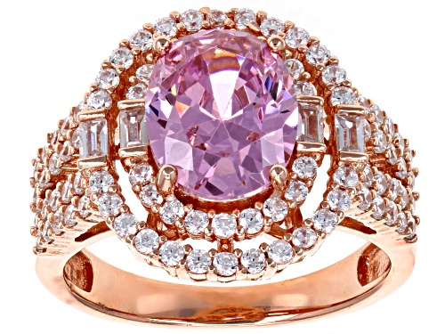 Photo of Bella Luce® 6.24ctw Pink and White Diamond Simulants Eterno ™ Rose Ring - Size 11