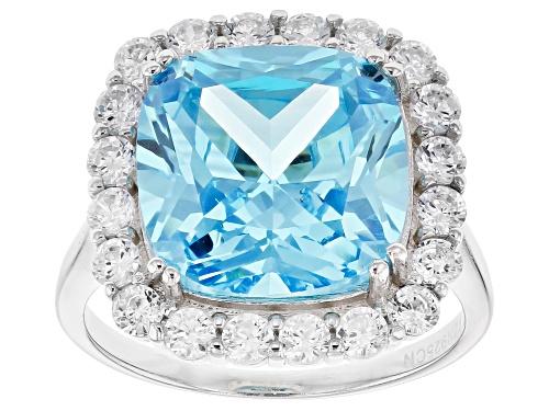 Photo of Bella Luce ® Esotica ™ 12.61CTW Neon Apatite White Diamond Simulants Rhodium Over Silver Ring - Size 7