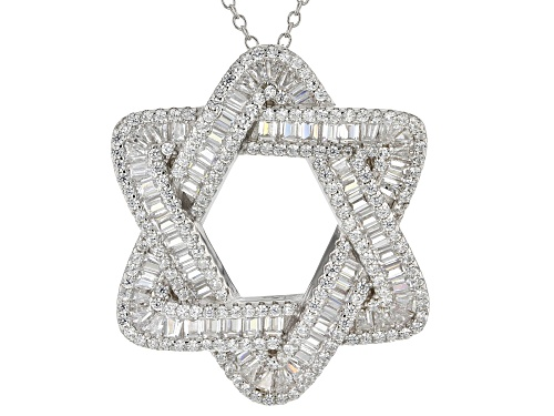 Photo of Bella Luce® 5.01ctw Rhodium Over Sterling Silver Star Of David Pendant With Chain