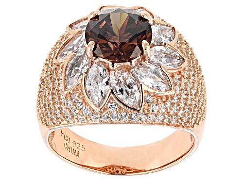 Photo of Bella Luce® 8.49ctw Mocha and White Diamond Simulants Eterno™ Rose Ring - Size 6