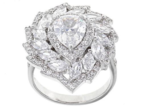 Photo of Bella Luce ® 4.33CTW White Diamond Simulant Rhodium Over Sterling Silver Ring - Size 10