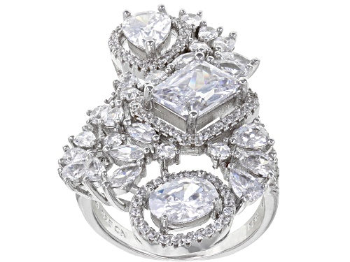 Photo of Bella Luce ® 10.76CTW White Diamond Simulant Rhodium Over Sterling Silver Ring - Size 6