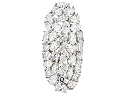 Photo of Bella Luce ® 21.25CTW White Diamond Simulant Rhodium Over Sterling Silver Ring - Size 6