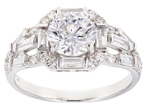 Photo of Bella Luce ® 3.59CTW White Diamond Simulant Rhodium Over Sterling Silver Ring - Size 10