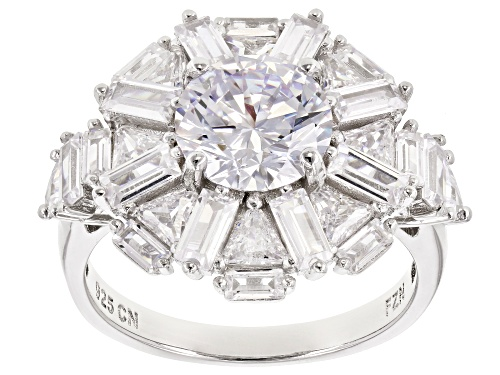 Photo of Bella Luce® 7.88ctw Rhodium Over Sterling Silver Ring (5.12ctw DEW) - Size 8