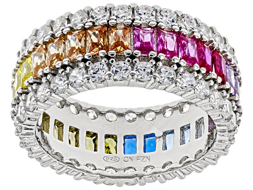 Photo of Bella Luce ® 7.95CTW Multicolor Gemstone Simulants Rhodium Over Sterling Silver Ring - Size 12