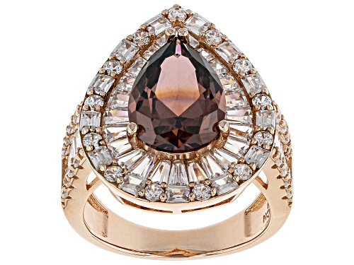 Photo of Bella Luce ® 12.20CTW Esotica ™ Blush Zircon & White Diamond Simulants Eterno ™ Rose Ring - Size 7