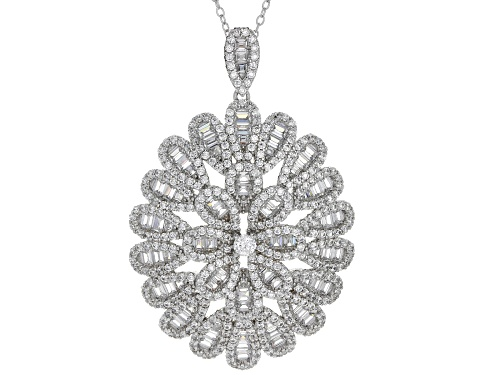 Photo of Bella Luce® 7.56ctw Rhodium Over Sterling Silver Pendant With Chain (4.49ctw DEW)