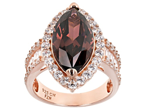 Photo of Bella Luce ® 12.29CTW Esotica ™ Blush Zirconia & White Diamond Simulants Eterno ™ Rose Ring - Size 10