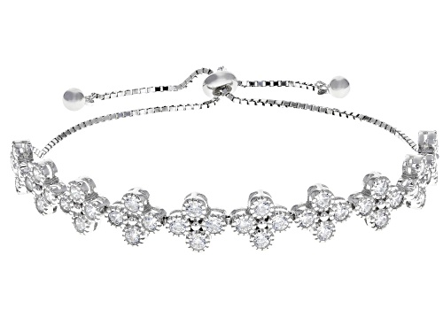 Photo of Bella Luce ® 4.00CTW White Diamond Simulant Rhodium Over Sterling Silver Adjustable Bracelet
