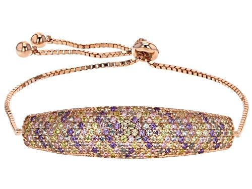 Bella Luce ® 2.58CTW Multicolor Gemstone Simulants Eterno ™ Rose Adjustable Bracelet