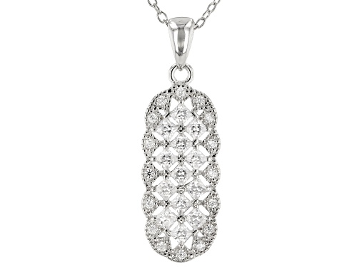 Photo of Bella Luce ® 1.42CTW White Diamond Simulant Rhodium Over Silver Pendant With Chain