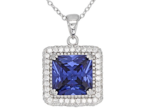 Photo of Bella Luce®10.05CTW Esotica™Tanzanite/White Diamond Simulants Rhodium Over Silver Pendant With Chain