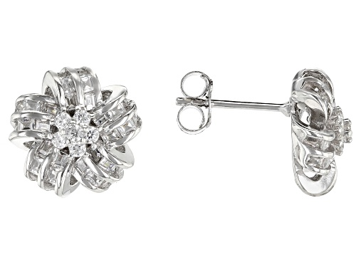 Photo of Bella Luce ® 1.46CTW White Diamond Simulant Rhodium Over Sterling Silver Earrings (1.38CTW DEW)