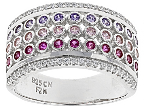 Photo of Bella Luce ® 1.40CTW Multicolor Gemstone Simulants Rhodium Over Sterling Silver Ring - Size 5