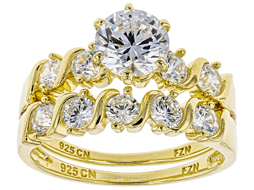 Photo of Bella Luce ® 3.84CTW White Diamond Simulant Eterno ™ Yellow Ring With Band (2.37CTW DEW) - Size 10