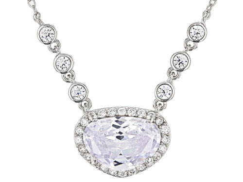 Photo of Bella Luce ® 7.65CTW White Diamond Simulant Rhodium Over Sterling Silver Necklace (7.00CTW DEW) - Size 18