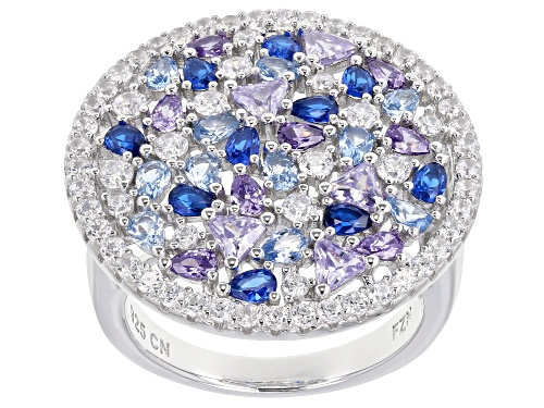 Photo of Bella Luce ® 8.70CTW Multicolor Gemstone Simulants Rhodium Over Sterling Silver Ring - Size 7