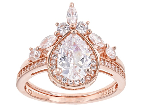 Photo of Bella Luce ® 3.31CTW White Diamond Simulant Eterno ™ Rose Ring With Band (2.06CTW DEW) - Size 5