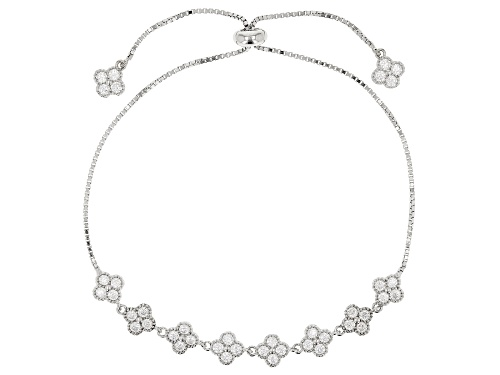 Bella Luce ® 1.06CTW White Diamond Simulant Rhodium Over Silver Adjustable Bracelet (0.72CTW DEW)