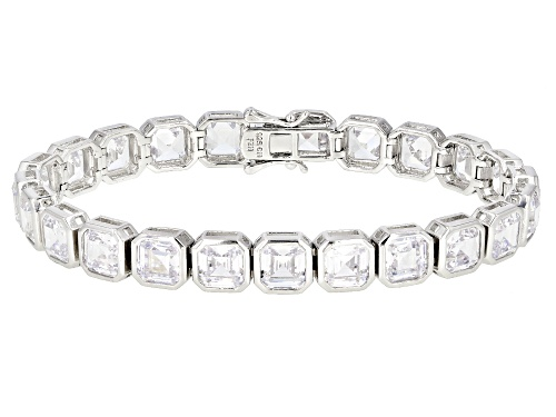 Photo of Bella Luce ® 31.12CTW White Diamond Simulant Rhodium Over Sterling Silver Bracelet - Size 7.25