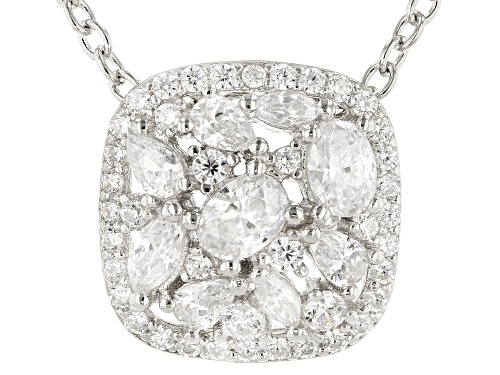 Photo of Bella Luce ® 2.11CTW White Diamond Simulant Rhodium Over Sterling Silver Pendant With Chain