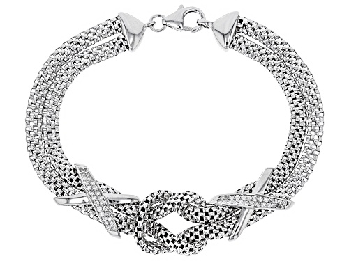 Photo of Bella Luce ® 0.52CTW White Diamond Simulant Rhodium Over Silver Bracelet - Size 8
