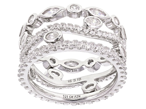 Photo of Bella Luce ® 3.33CTW White Diamond Simulant Rhodium Over Silver Rings Set Of 3 (3.00CTW DEW) - Size 6