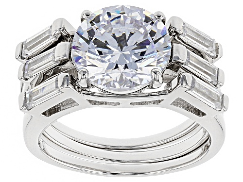 Photo of Bella Luce ® 7.99CTW White Diamond Simulant Rhodium Over Silver Ring With Bands (4.95CTW DEW) - Size 10
