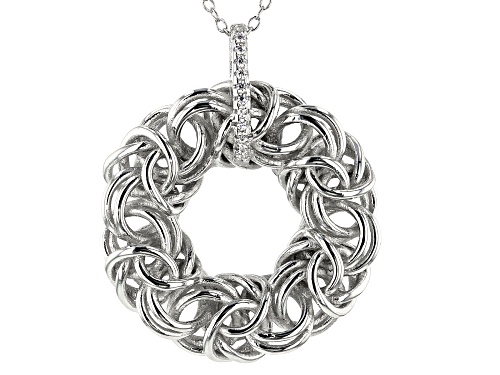 Photo of Bella Luce ® 0.11ctw Rhodium Over Sterling Silver Pendant With Chain (0.06ctw DEW)