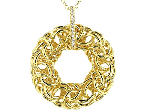 Photo of Bella Luce ® 0.11ctw White Diamond Simulant Eterno™ Yellow Pendant With Chain (0.06ctw DEW)