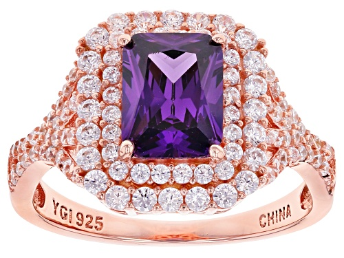 Photo of Bella Luce ® 4.24ctw Amethyst And White Diamond Simulants Eterno™ Rose Ring - Size 11