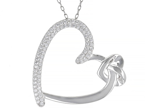 Photo of Bella Luce®0.75ctw White Diamond Simulant Rhodium Over Silver Heart Pendant With Chain(0.37ctw DEW)