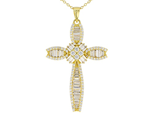 Photo of Bella Luce ® 4.55ctw Eterno™ Yellow Cross Pendant With Chain (2.80ctw DEW)